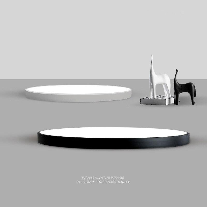 ultra fino pratico 5 cm levou teto lampadas de ferro quadrado redondo preto branco luzes de