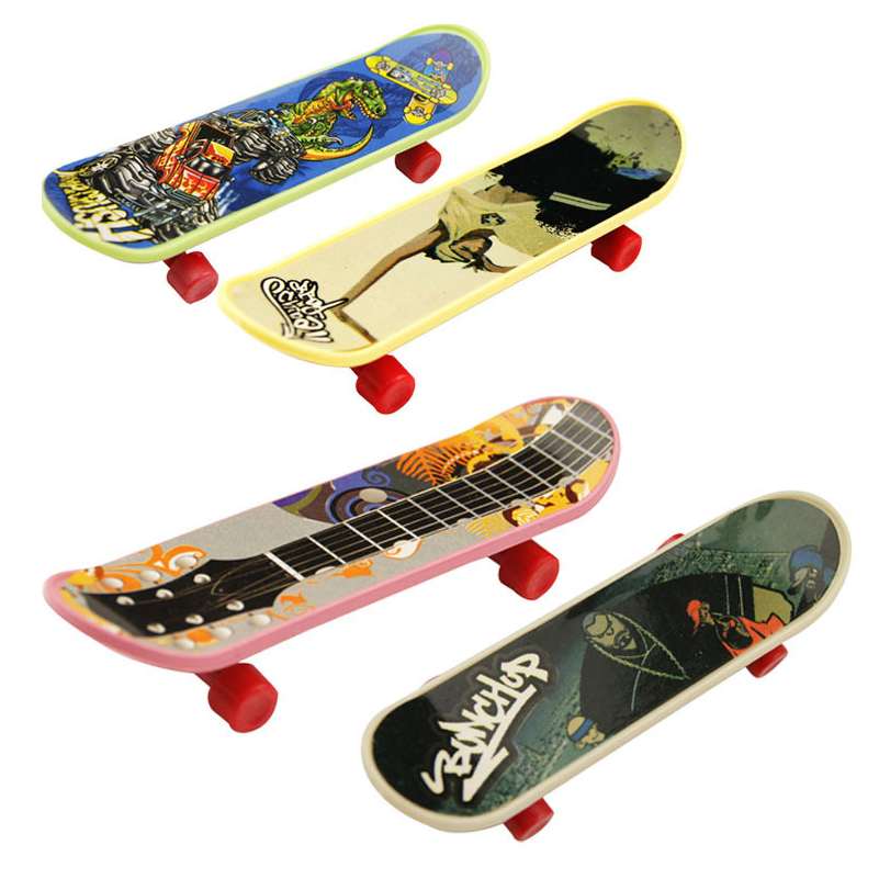 Mini Finger Skateboard 10Pcs/lot Fingerboard Mini Skate Alloy Stents Scrub Finger Scooter Skate Boarding For Tech Dec Game Toy
