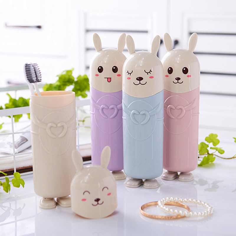 Travel Accessories Cute Cartoon Children Toothbrush Box Bath Product Protect Toothbrush Case Holder Camping Portable Cover Box