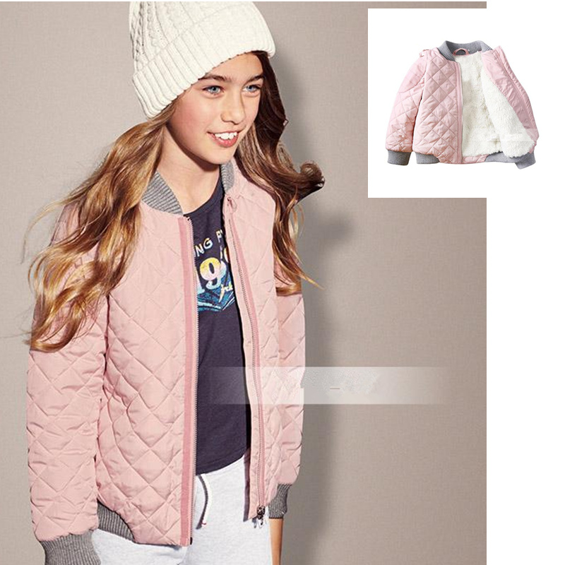 Foreign trade girls with velvet baseball uniform quilted jacket big child cotton-padded clothes cotton-padded jacket coat laundry by shelli segal quilted leather jacket