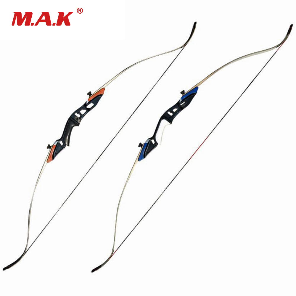 "58"" American Hunting Recurve Bow 25-50 LBS with High Strength Alloy Riser and Maple Limbs Archery Shooting"