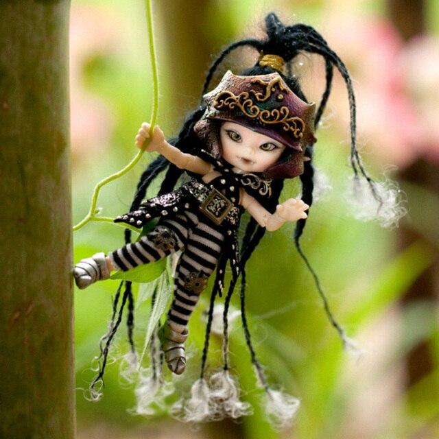 Darmowa wysyłka Fairyland Realpuki AKIa1/13 lalki BJD różowy uśmiech elfy zabawki dla dzieci prezent dla chłopców dziewcząt urodziny