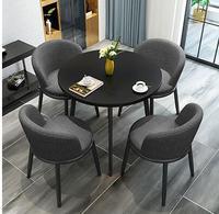 Простой стол переговоров и стул сочетание офисный Досуг прием круглый стол Магазин Салон Кофе Чай магазин стол нордический.