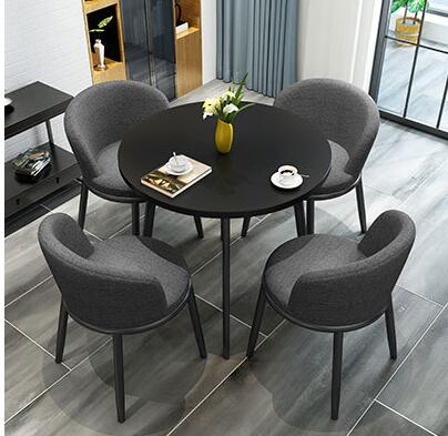 Simple Negotiation Table And Chair Combination Office Leisure Reception Round Table Shop Parlor Coffee Tea Shop Table Nordic.