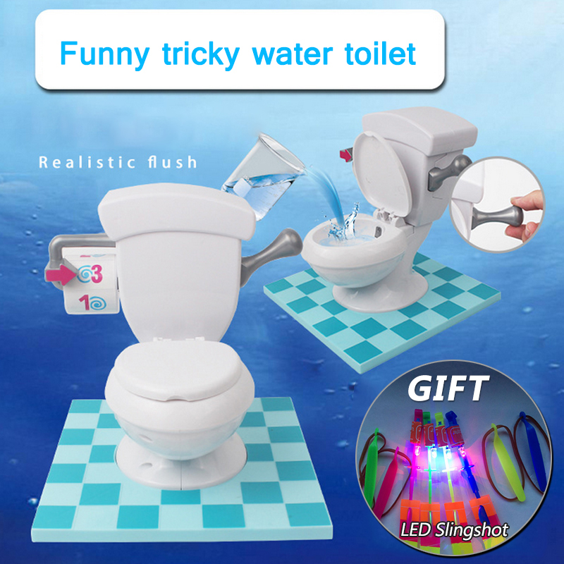Electrical Tricky Water Spray Toilet Antistress Funny Toy For Kids Festival Gifts Grownups Children Game Fun Novelty Gag Toy dayan gem vi cube speed puzzle magic cubes educational game toys gift for children kids grownups