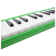 HOT IRIN 37 Melodica Keys Melodic Musical Instrument with Carrying Bag for Students Beginners Kids Green