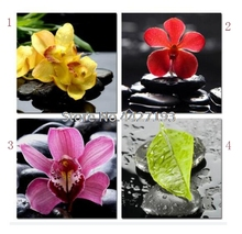 Orchid bamboo Diamond Embroidery Flowers Home Decor Diy Painting Cross Stitch 5D Full Rhinestone Mosaic Crafts