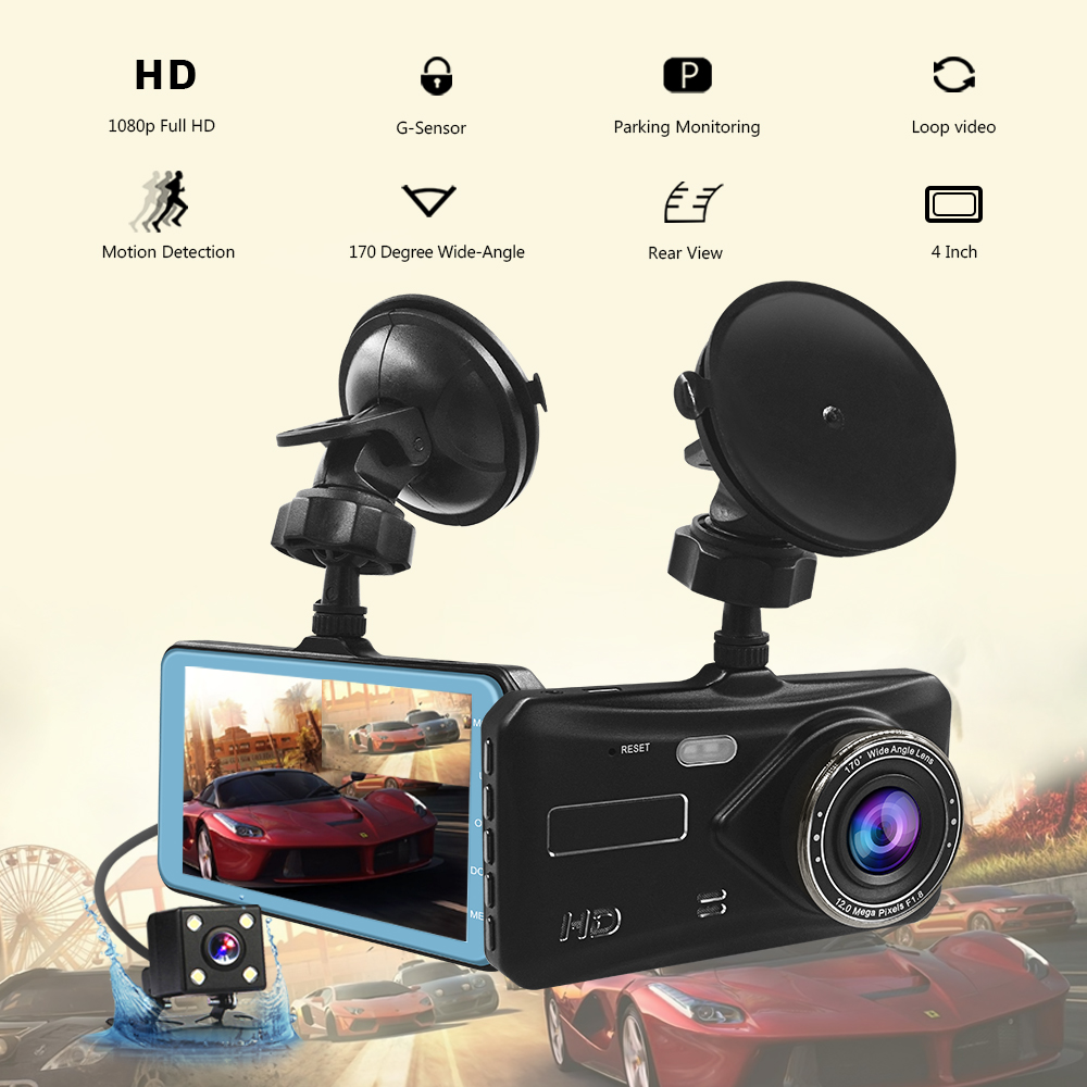 5 Inch Dual Lens Video Recorder Dash Cam Super Night Vision 1296P Rearview Mirror Car Camera Waterproof DVR Rear View Camera G-Sensor 145 Wide Degree Super Night Vision car Dash Camera Rhythm Electronics Limited RM-LC2020