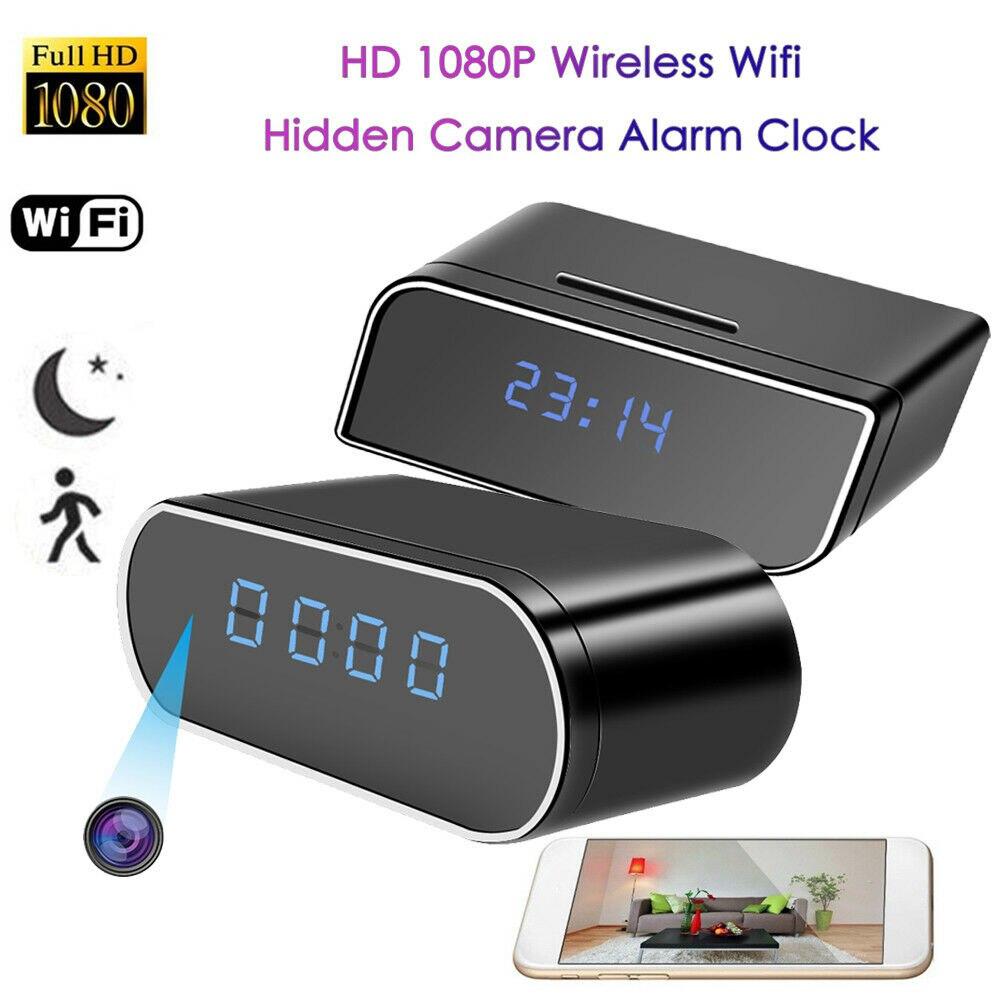 Caméra Wifi sans fil ip caméra horloge mini caméra hd wifi sécurité Vision nocturne détection de mouvement caméra secrète espia 1080 P cam