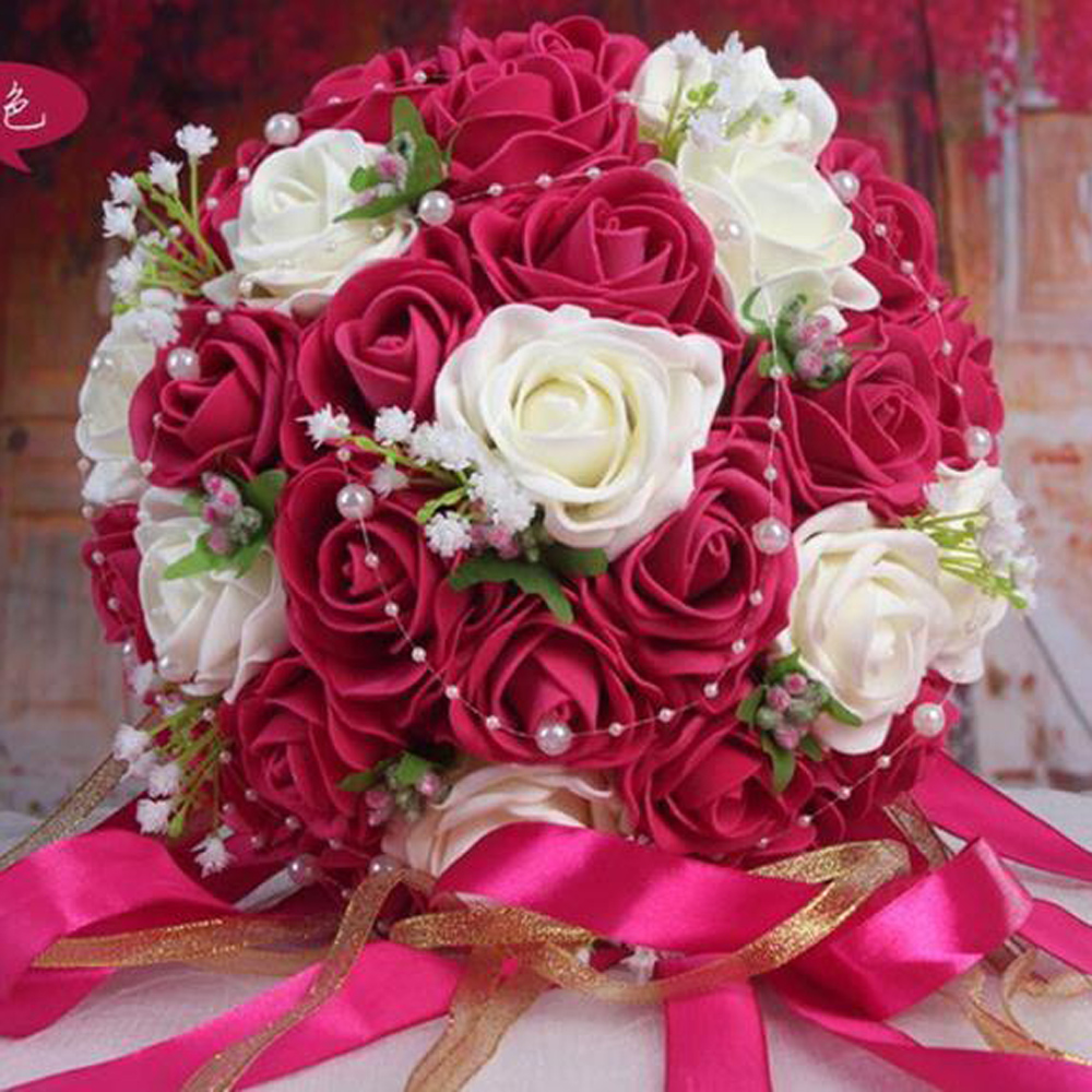 popular red white bouquets buy cheap red white bouquets lots from china red white bouquets. Black Bedroom Furniture Sets. Home Design Ideas
