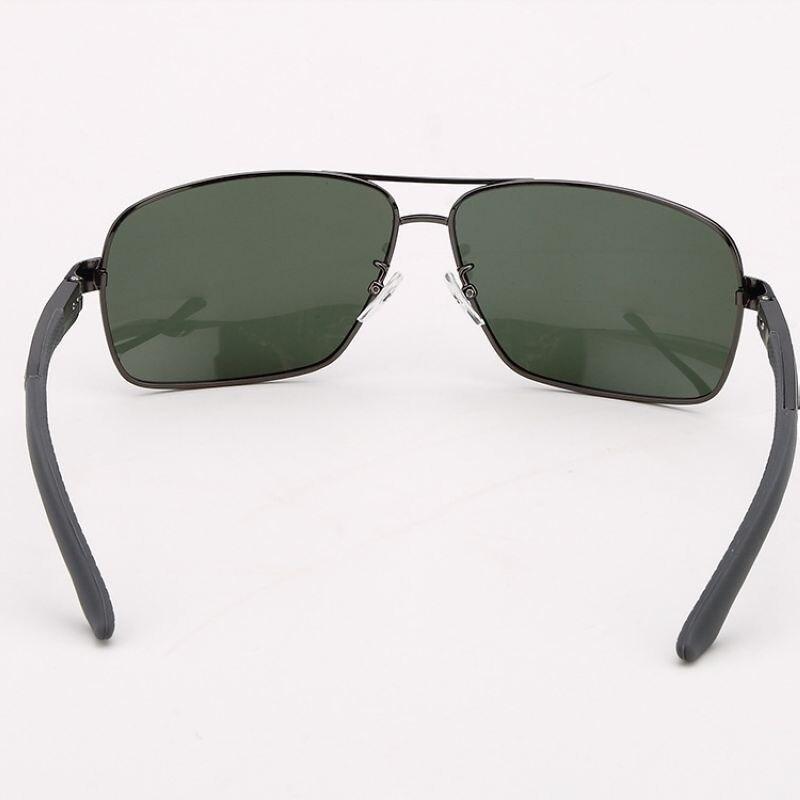 6e4634eba5d Polarized Sunglasses For Men Rectangle Shape Frame Polarised Green Lens  Mens Glasses Solbriller Nettbutikk-in Sunglasses from Apparel Accessories  on ...