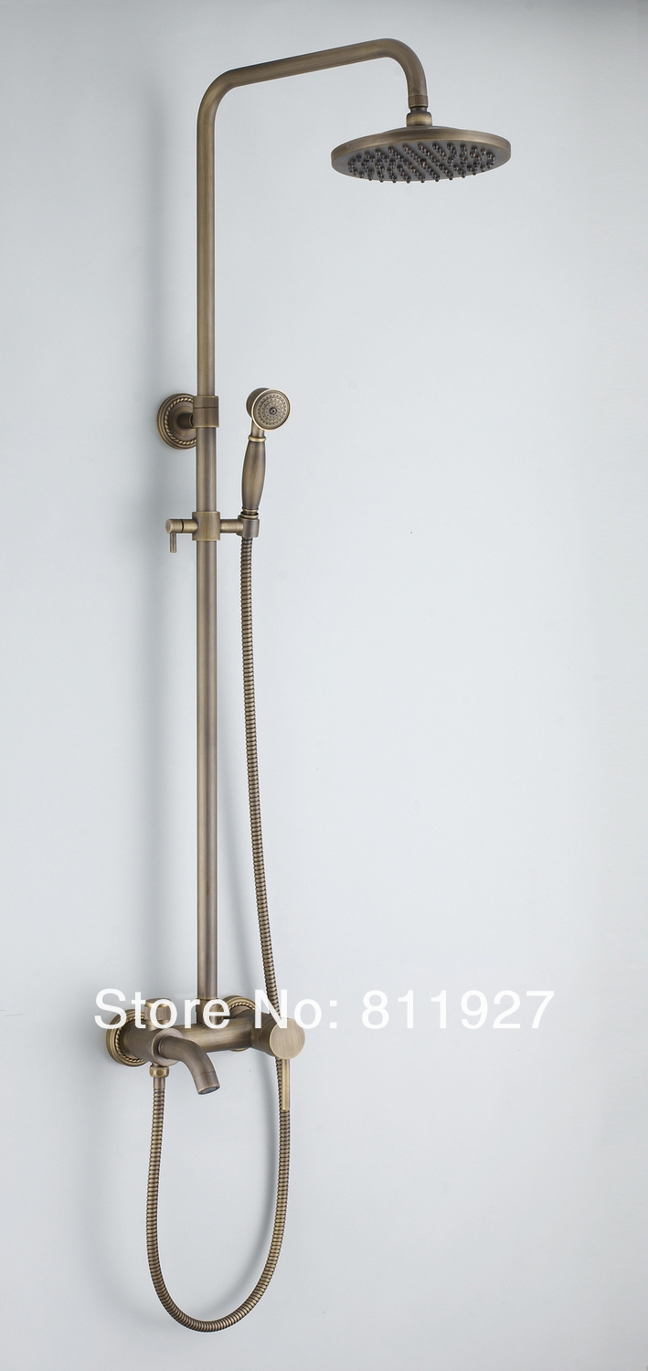 exposed pipe shower . Good Quality Brush Nickle Rain Bath Exposed Pipe Shower Faucet Set Cheap  Price For Sale Fast Delivery Free 10 Years Guarantee