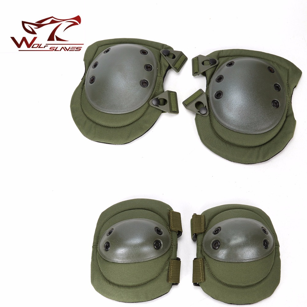 MILL Tactical paintball protection knee pads & elbow pads set Sports Safety Protective Pads Protector Gear Hunting Pads