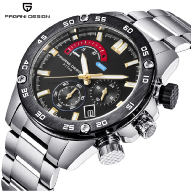 2018 nuevo PAGANI DESIGN luxury brand design sports quartz watch mens stainless steel Relogio Masculino