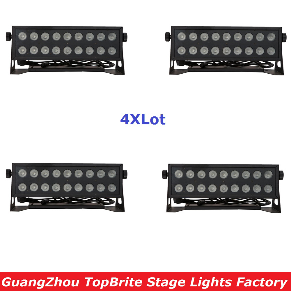 4XLot Discount Professional Stage Dj Light 18X12W RGBW 4IN1 LED Stage Strobe Effect Bar Lights 90-240V For Party Wedding Disco