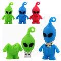 UFO aliens pendrive usb flash drive 64 gb 8 GB 16 GB USB Memory Stick 32 GB pendrive Pulgar de nuevo 2014 palillo de la pluma del disco