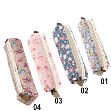 2017 school supplies Mini Retro Flower Floral Lace Case storage bag Cosmetic Makeup Bag Zipper Pouch Purse