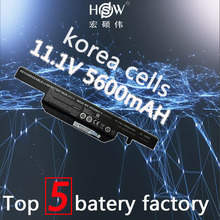 Genuine original 11.1V 62.16WH battery for Hasee K610C K650D K570N K710C K590C K750D Clevo W650S W650BAT-6 bateria kku