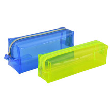 1Pcs Transparent Plastic Box School Lovely Pencil Case Pen Holder Bag Pouch Painting Brush Pens Storage New Gift Stationery