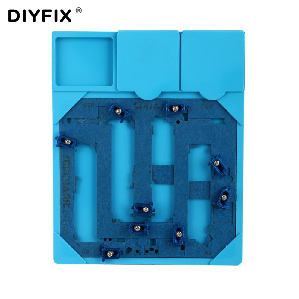 DIYFIX Circuit Board PCB Holder Jig Fixture Work Station with Heat Insulation Pad for iPhone 6S/6SP Logic Board A9 Chip Repair цена и фото