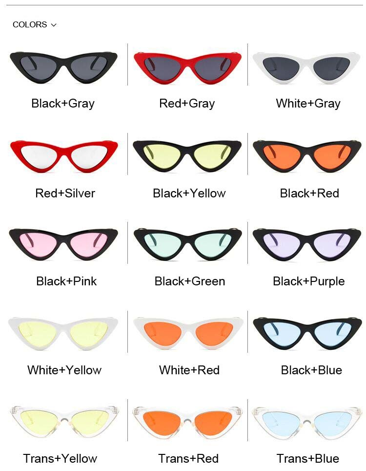 Colorful Vintage Cat eye Sunglasses