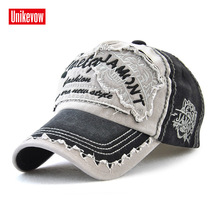 UNIKEVOW 100% cotton Tiger embroidery Cap For Men And Women High quality Baseball Sports Leisure Hats Hip Hop