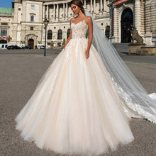 HIRE LNYER Spaghetti Straps Ball Gown Wedding Dress