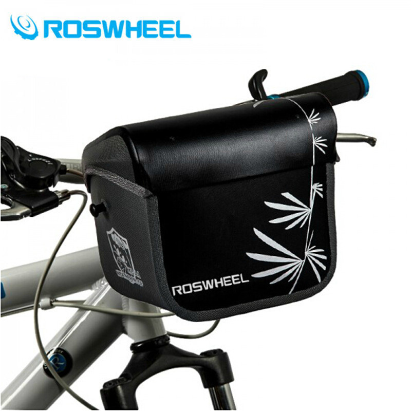 ROSWHEEL Bicycle Bags 3L Bike Handlebar Bag Rainproof Bicycle Front Tube Pocket Shoulder Pack Riding Cycling Supplies leadbike a44 bike handlebar phone bag