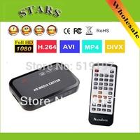 Wholesale Free Shipping 1080P Media Player Center MultiMedia Video Player With HDMI VGA AV USB SD