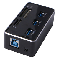 Multi Function All In 1 High Speed Card Reader Hub USB 3 0 USB 7 Slots