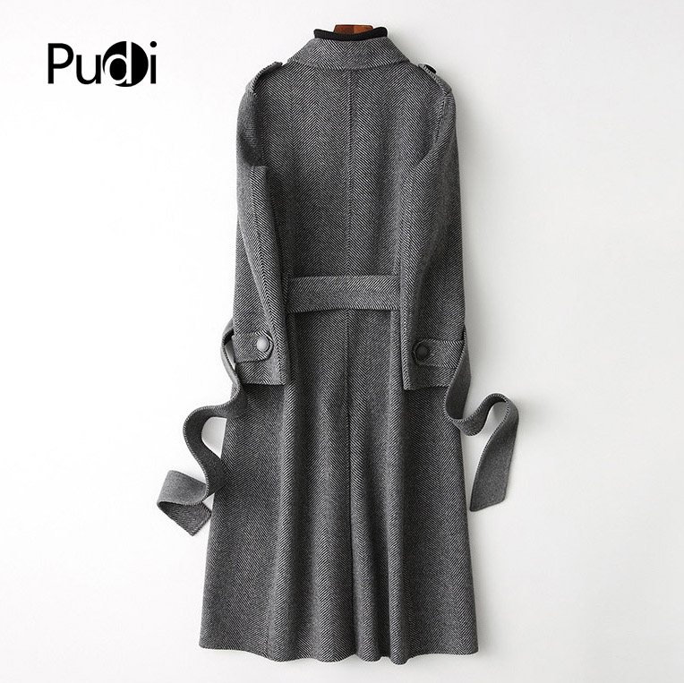Laine Poche Dame Pudi Nouvelle Style Veste Avec Hiver 2018 Automne Ro18048 Loisirs Chevrons Long Mode Femmes Manteau De wxqFYAqU