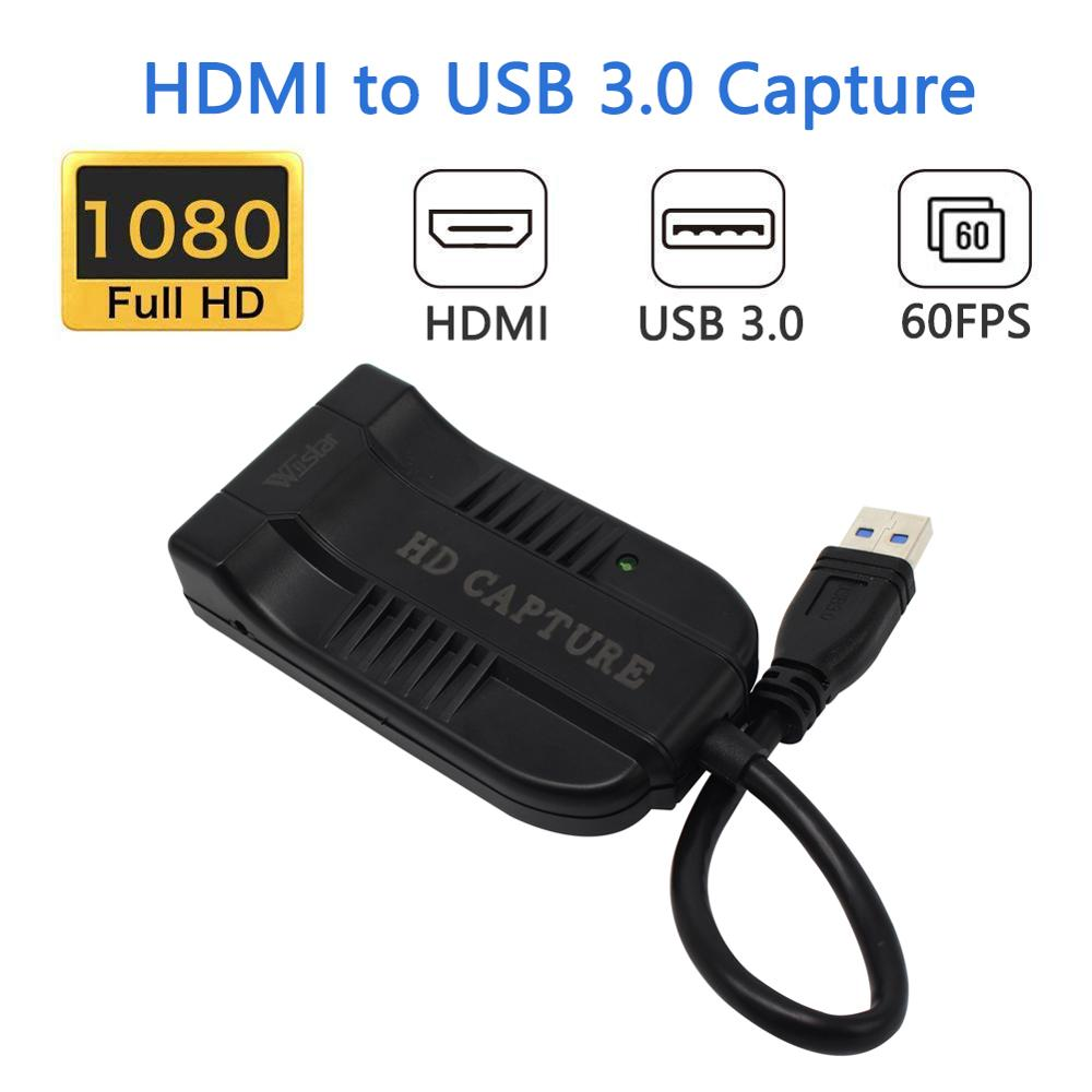 Wiistar HDMI to USB 3 0 Video Capture Dongle 1080P 60FPS Video Audio Grabber Game Recorder
