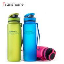 Transhome Bicicleta Botella de Agua 500 ml Tritan SIN BPA Creativa Portable Unbreakable Deportes Senderismo Protein Shaker Botellas Moda