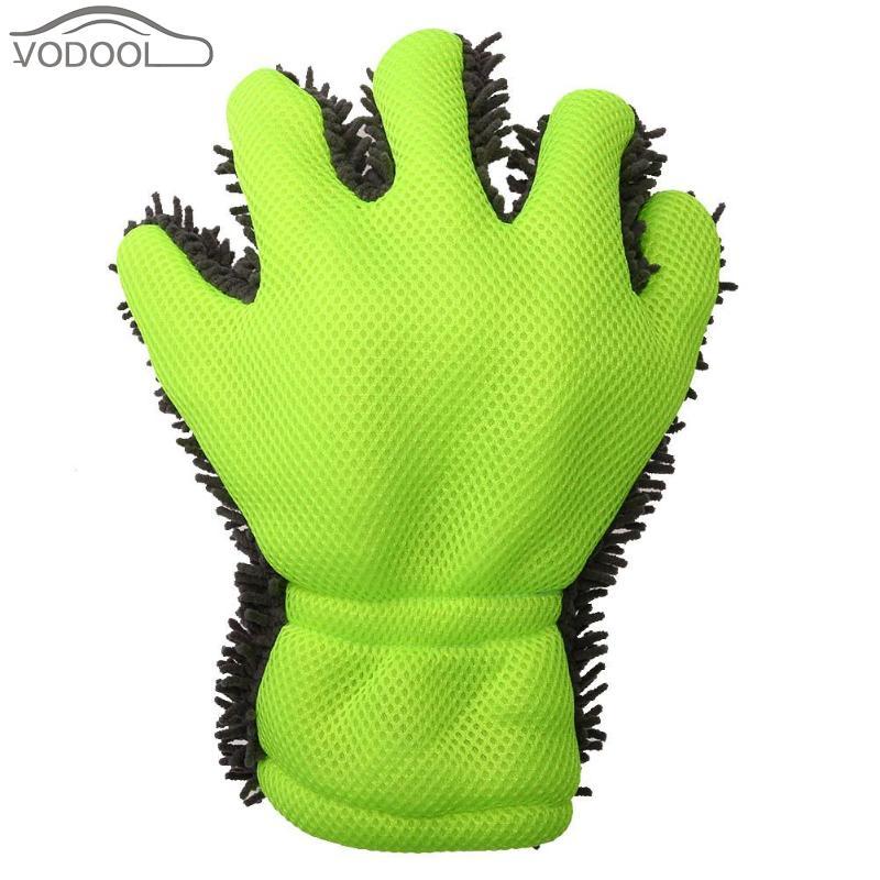 Brush Full Finger Car Wash Glove Washing Chenille Cleaning Tool