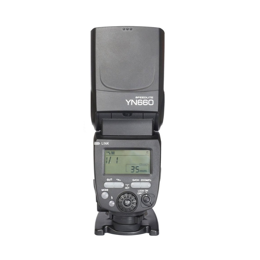 YONGNUO YN660 Wireless Flash Speedlite GN66 2.4G HSS 1/8000s Wireless Radio Master Slave for Canon Nikon Pentax Olympus yongnuo 3x yn 600ex rt ii 2 4g wireless hss 1 8000s master flash speedlite yn e3 rt flash trigger for canon eos camera 5d 6d