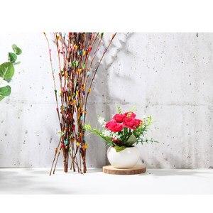 Image 5 - 10 adet yapay Rattan çiçek tomurcuğu şapkalar Garland fotoğraf sahne fotoğraf arka plan süsler aksesuarları DIY süslemeleri