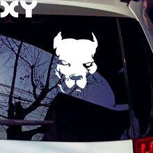 방수 자동차 스티커 데칼 핏불 자동차 스타일링 자동차 액세서리 반사 형 자동차 스티커