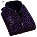 ZIYU Brand Plus Velvet Casual Men Shirt Long Sleeve Trend Slim Fit Dress Shirts Floral Shirt Men Clothes Camisa Masculina PY006