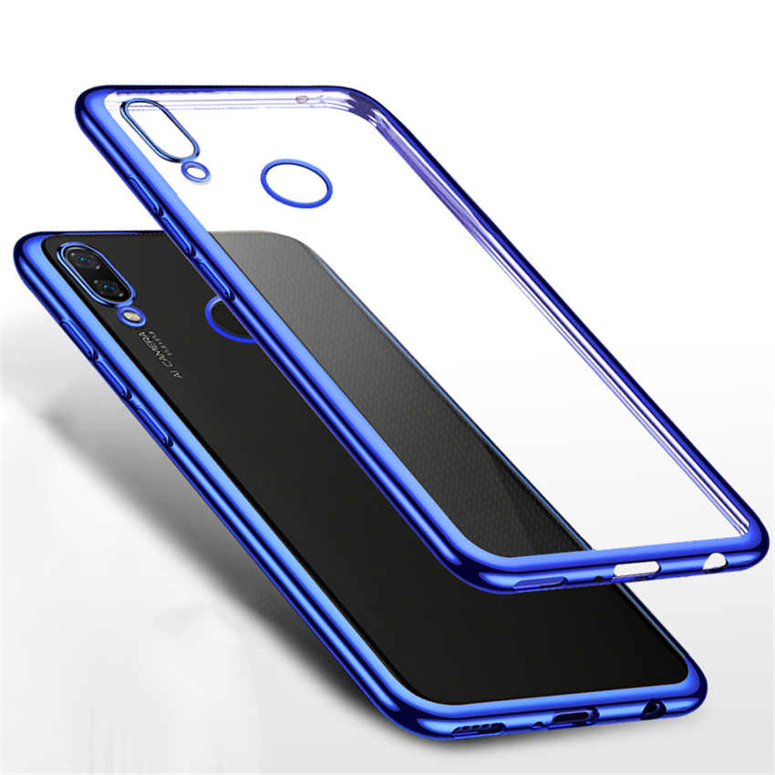 For Xiaomi Redmi Note 7 Case 3D Laser Plating Luxury TPU Soft Clear Cover For Xiaomi Redmi Note 7 Pro Redmi7 Bright Phone Cases