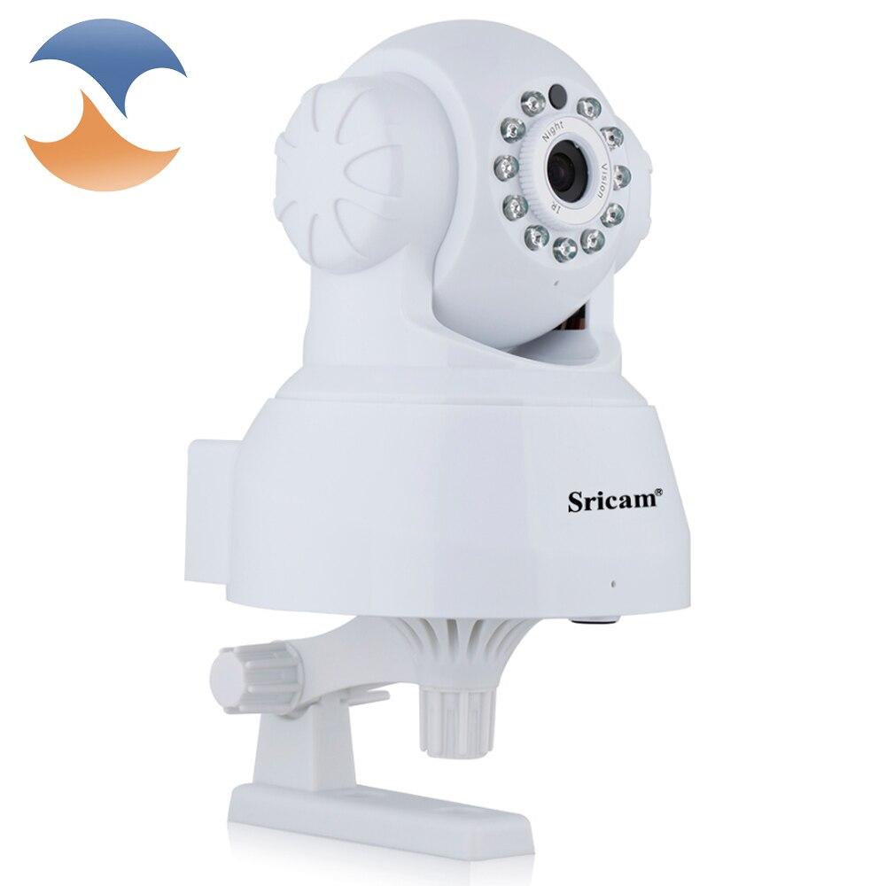 imágenes para Sricam sp012 cámara ip wifi onvif p2p teléfono remoto 720 p 1.0mp wireless seguridad para el hogar baby monitor de vídeo cámara de vigilancia