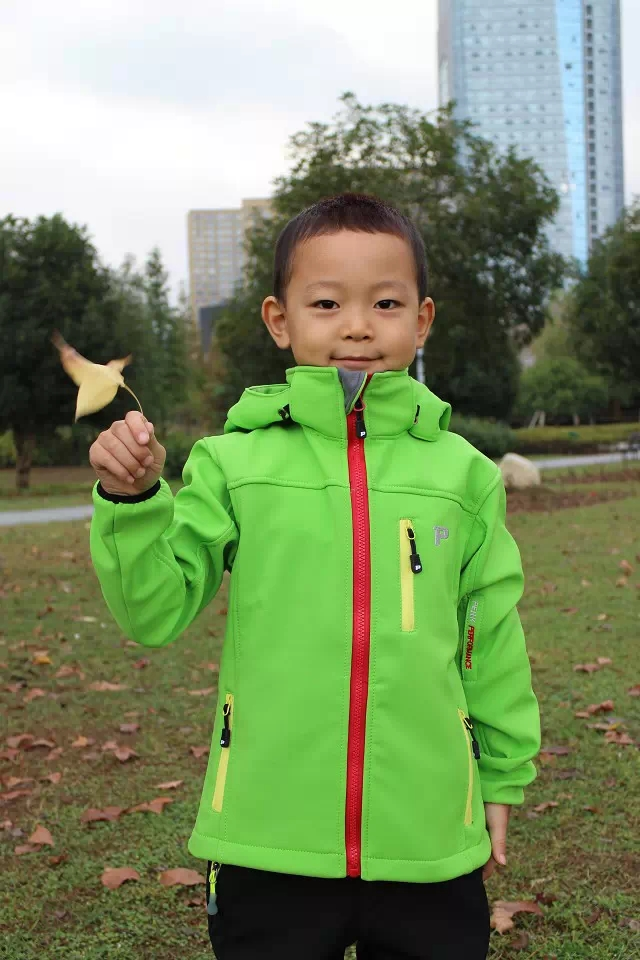 b23ea95d40d0 Kids Softshell Hiking Jackets Boy Girl Sport Coat Clothes For ...