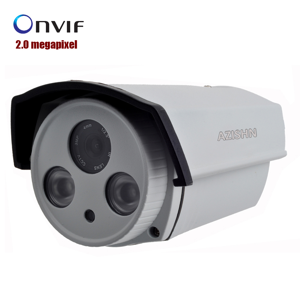 2.0 megapixel Outdoor IP camera 1080P Full HD Onvif  2 ARRAY LED With IR IR-Bullet Camera Waterproof IP Camera bullet camera tube camera headset holder with varied size in diameter