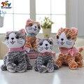 20 см/25 см Симпатичные kawaii фаршированные плюшевые мода кот игрушки куклы девочка мальчик подарок на день рождения подарок бесплатно доставка Triver Игрушки