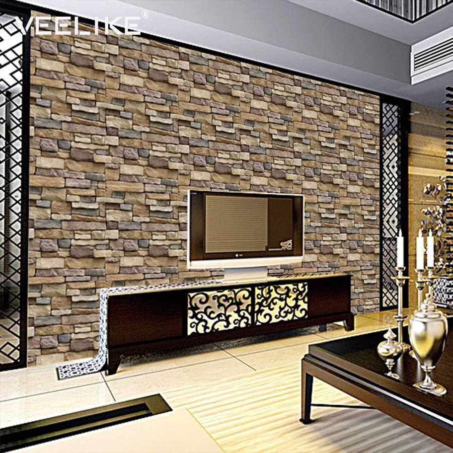 Pvc Vintage Brick Waterproof Self Adhesive Wallpaper Peel And Stick For Living Room Decor Bedroom Wall Decor Vinyl Wall Paper Faux Brick Wallpaper Brick Wallpaperfaux Brick Aliexpress