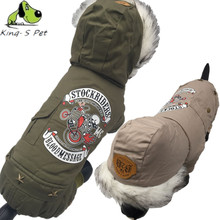 New Cotton Pet Cat Dog Letter Printed Costume Warm Winter Dogs Clothes Coat 100% Warm Cotton Jacket Four Leg Clothing For Dogs