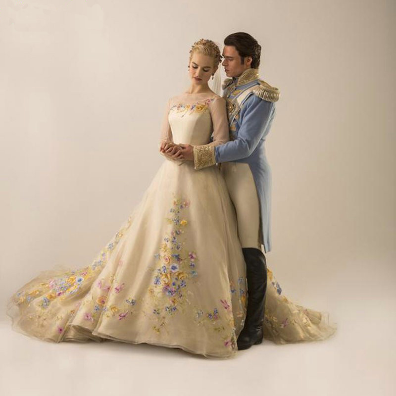 Online buy wholesale fairy wedding gowns from china fairy for Fairytale ball gown wedding dresses