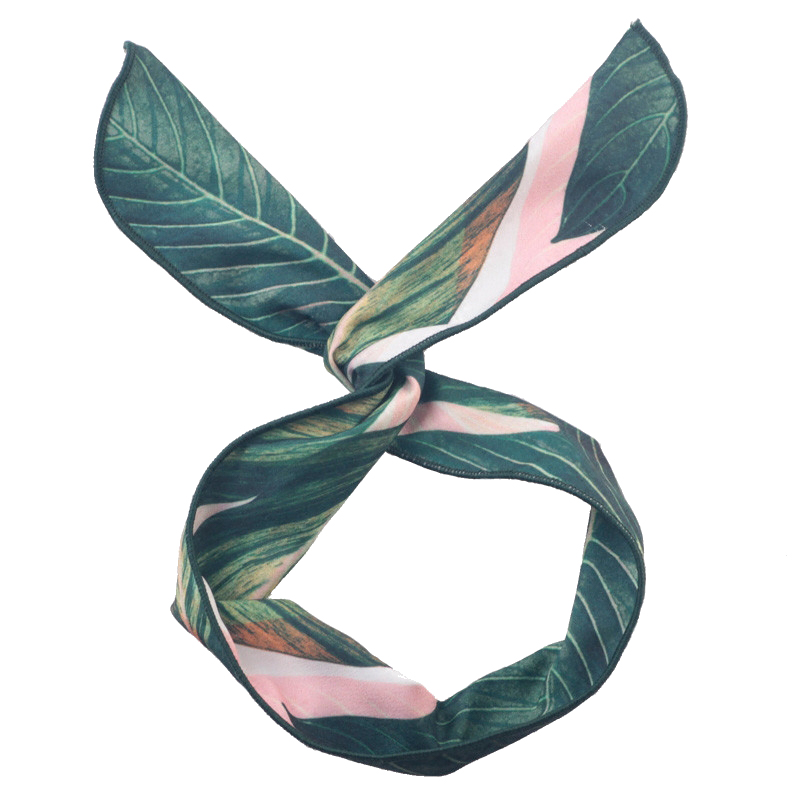 Korea Vintage Banana Leaf Cross Hair Band Hair Accessories Fashion Women   Headwear   Bow Knotted Rabbit Ears Printing Headbands NEW