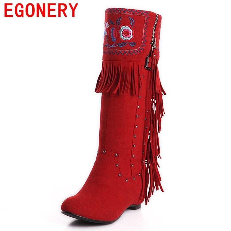 633e74ea1a5 ᗚEGONERY chaussures 2017 en cuir nationale bottes d hiver ...