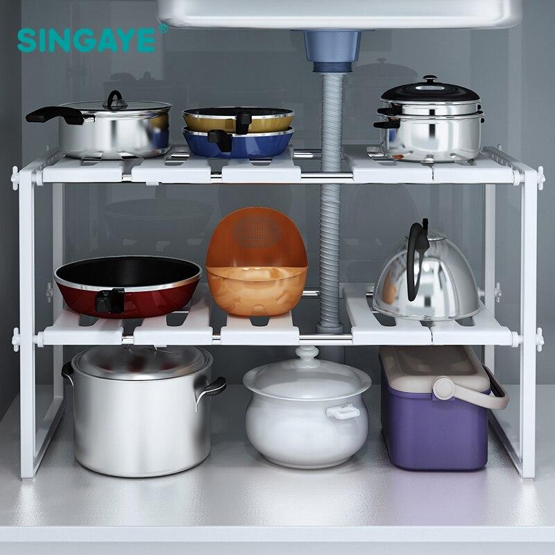 Kitchen Sink Shelf Organizer: SINGAYE DIY Stainless Steel Multifunction Kitchen Sink