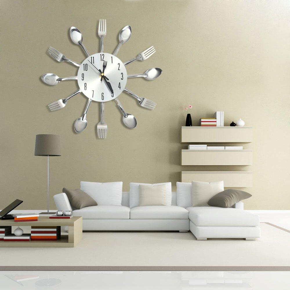 Kitchen Wall Clocks Modern Online Get Cheap Stainless Steel Wall Clock Aliexpresscom